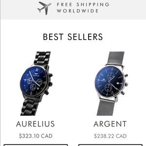 Aventino Watches Save 15%Off with :Flaviennefazy15